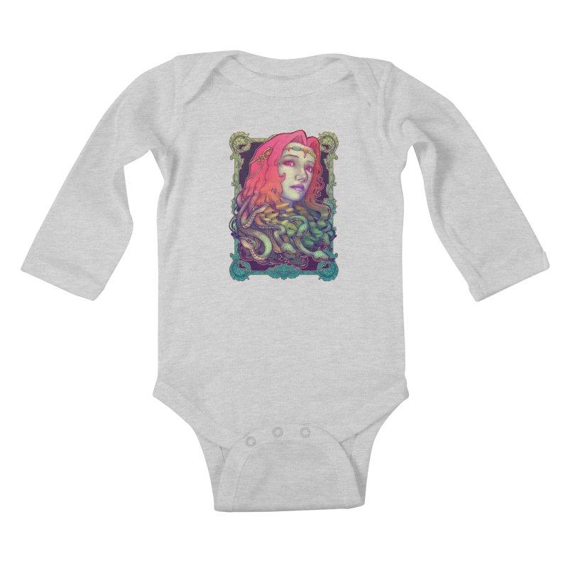 Medusa Devil Kids Baby Longsleeve Bodysuit by villainmazk's Artist Shop