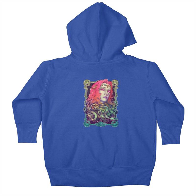 Medusa Devil Kids Baby Zip-Up Hoody by villainmazk's Artist Shop