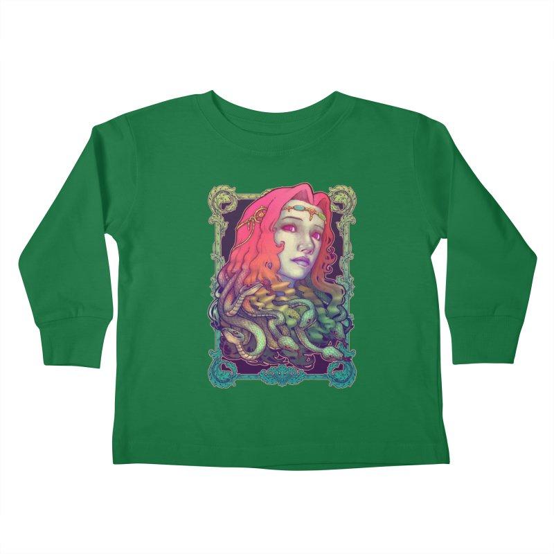 Medusa Devil Kids Toddler Longsleeve T-Shirt by villainmazk's Artist Shop