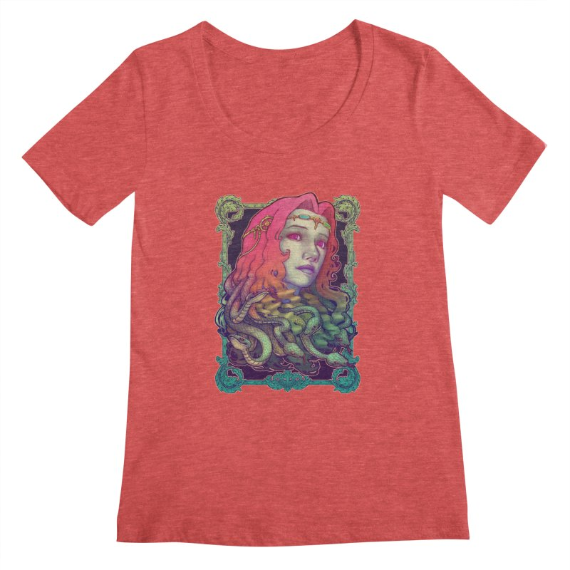 Medusa Devil Women's Scoopneck by villainmazk's Artist Shop