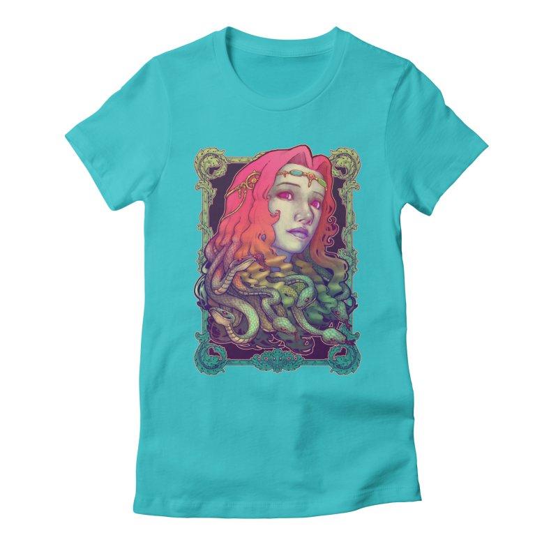 Medusa Devil Women's Fitted T-Shirt by villainmazk's Artist Shop