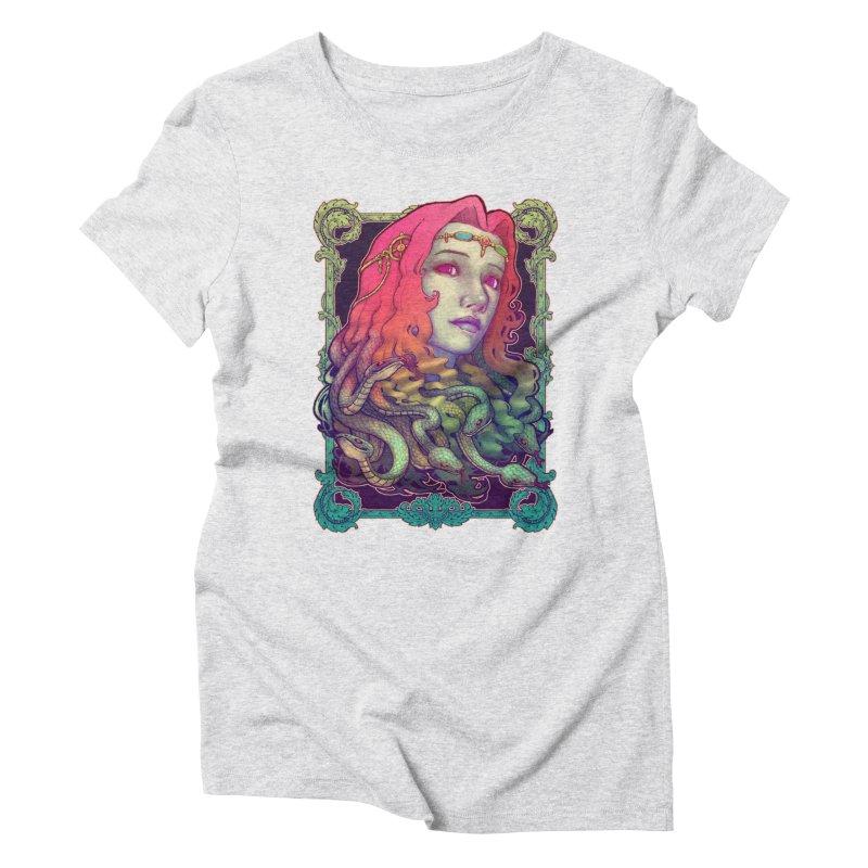 Medusa Devil Women's Triblend T-Shirt by villainmazk's Artist Shop
