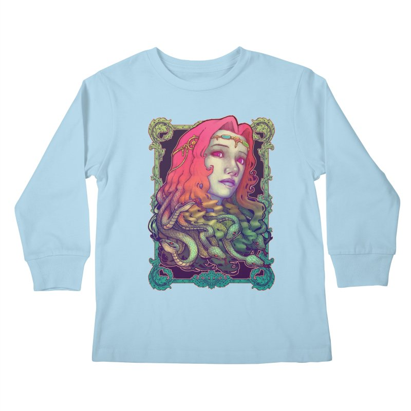 Medusa Devil Kids Longsleeve T-Shirt by villainmazk's Artist Shop