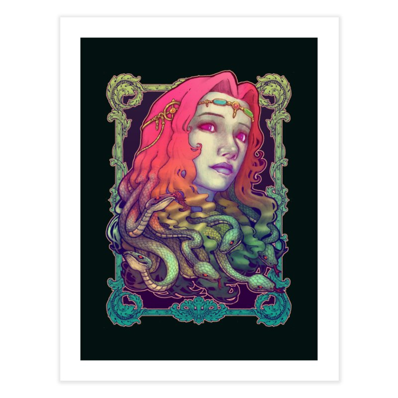 Medusa Devil Home Fine Art Print by villainmazk's Artist Shop