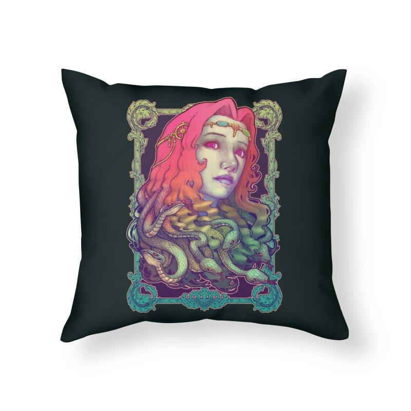 Medusa Devil Home Throw Pillow by villainmazk's Artist Shop