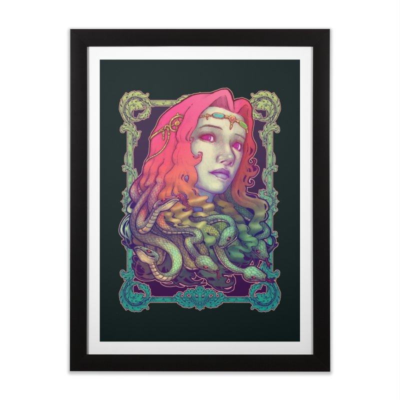 Medusa Devil Home Framed Fine Art Print by villainmazk's Artist Shop