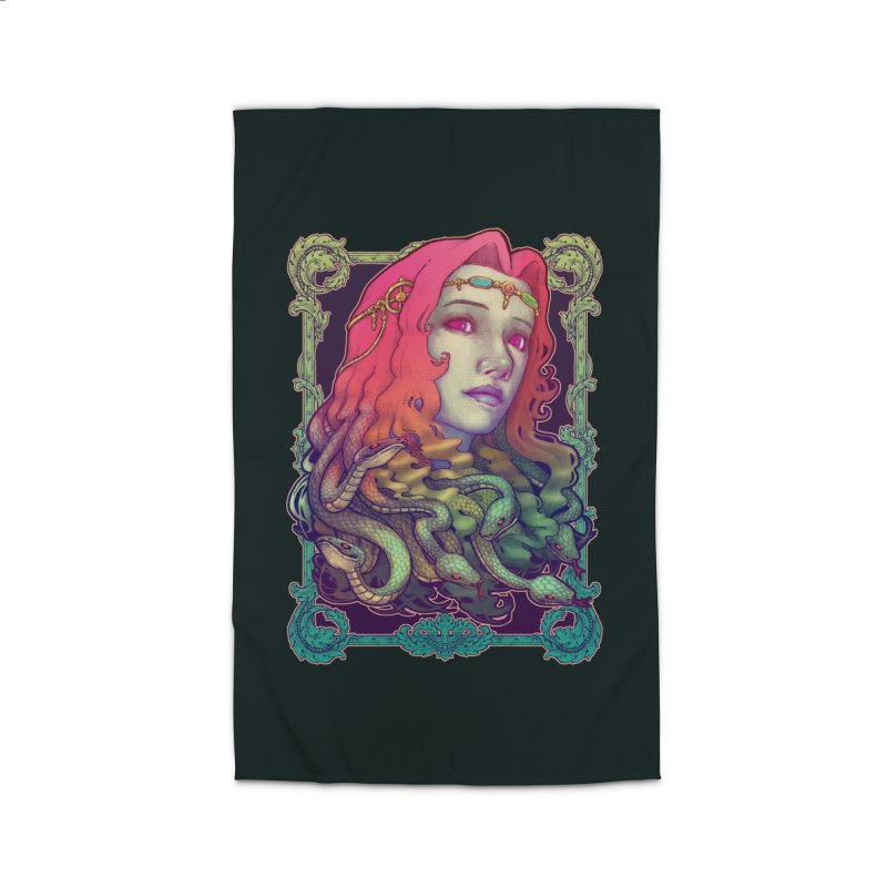 Medusa Devil Home Rug by villainmazk's Artist Shop