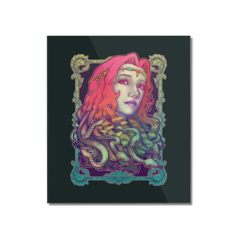 Medusa Devil Home Mounted Acrylic Print by villainmazk's Artist Shop