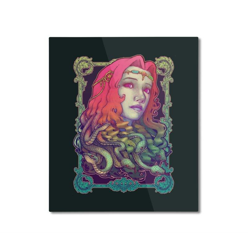 Medusa Devil Home Mounted Aluminum Print by villainmazk's Artist Shop