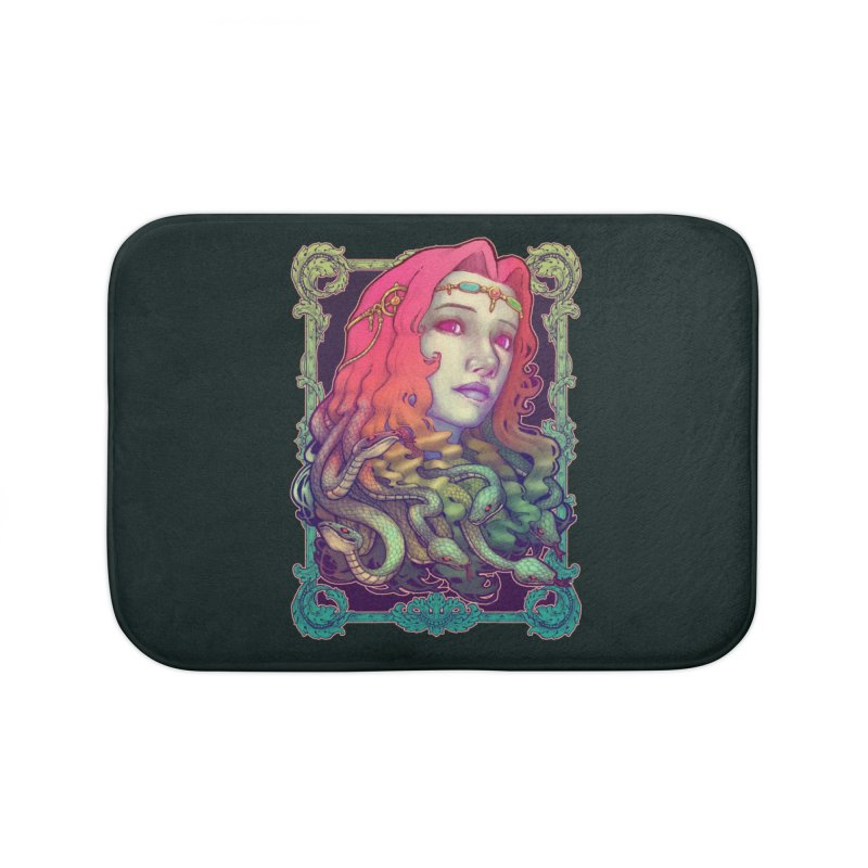 Medusa Devil Home Bath Mat by villainmazk's Artist Shop