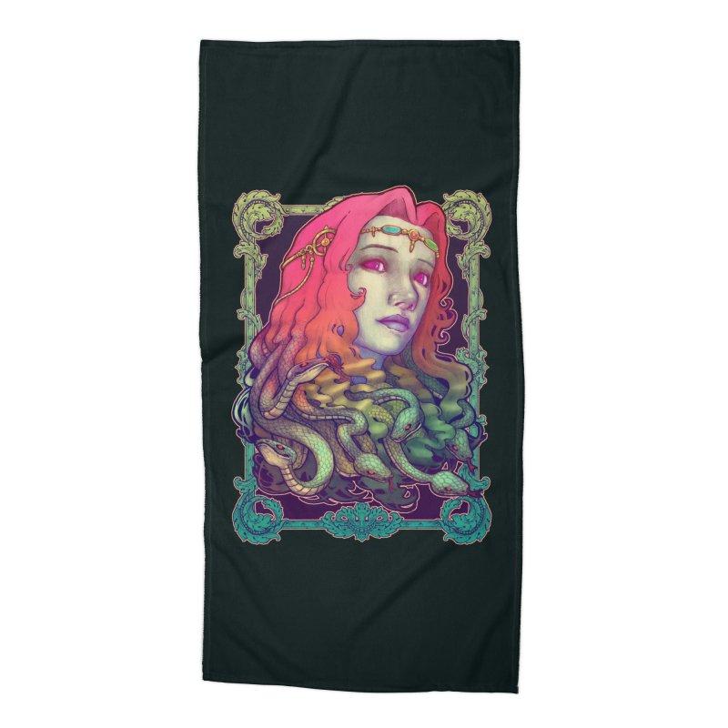 Medusa Devil Accessories Beach Towel by villainmazk's Artist Shop