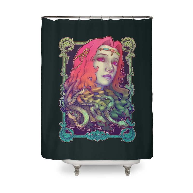 Medusa Devil Home Shower Curtain by villainmazk's Artist Shop
