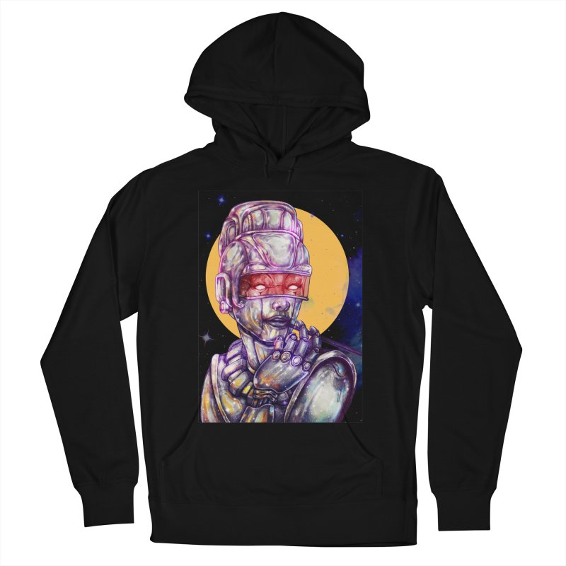 Iron Audrey Women's French Terry Pullover Hoody by villainmazk's Artist Shop