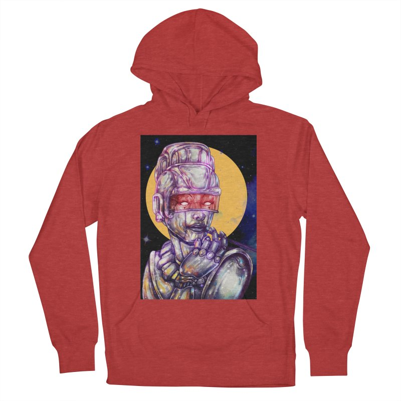 Iron Audrey Men's French Terry Pullover Hoody by villainmazk's Artist Shop
