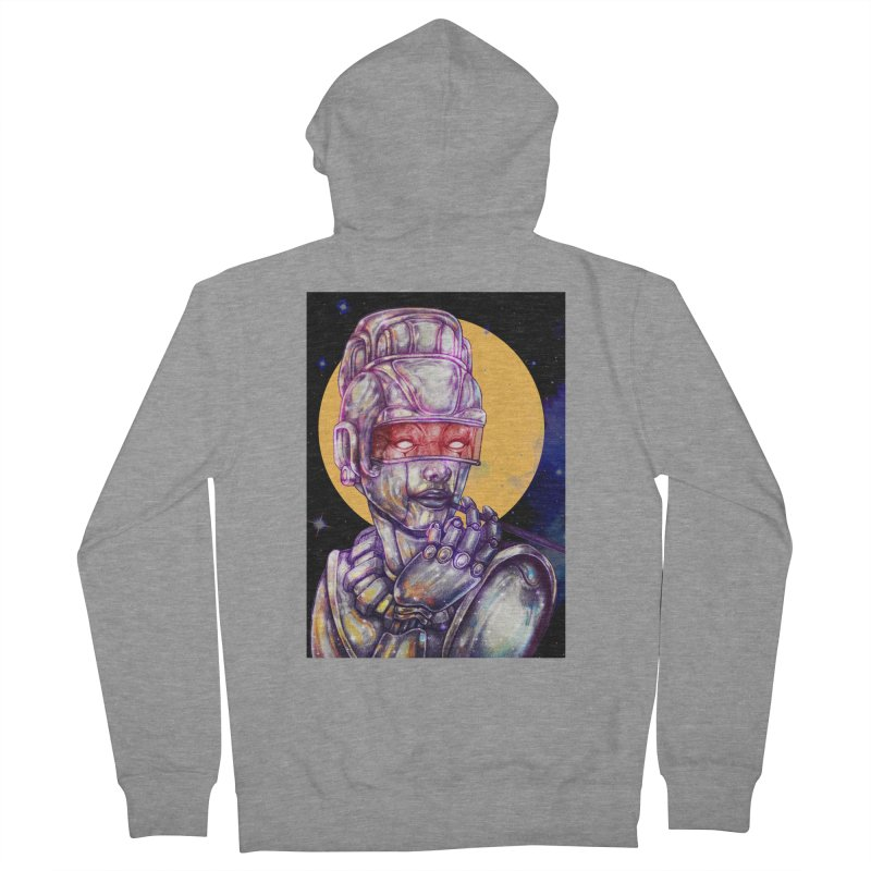 Iron Audrey Men's French Terry Zip-Up Hoody by villainmazk's Artist Shop