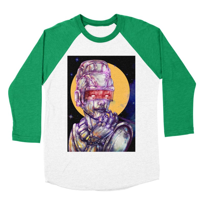 Iron Audrey Women's Baseball Triblend Longsleeve T-Shirt by villainmazk's Artist Shop