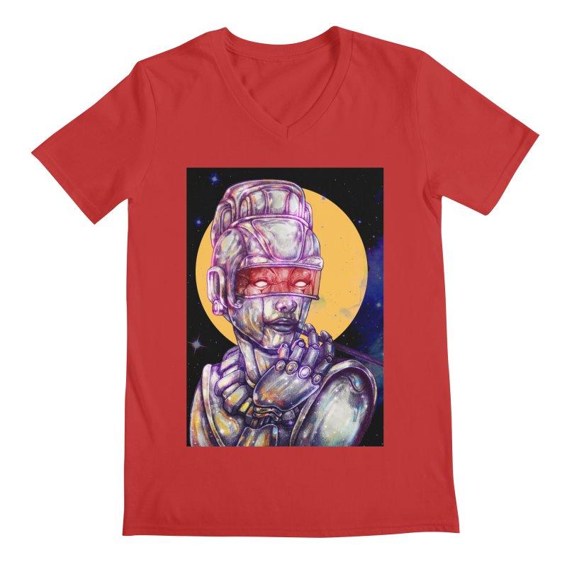 Iron Audrey Men's V-Neck by villainmazk's Artist Shop