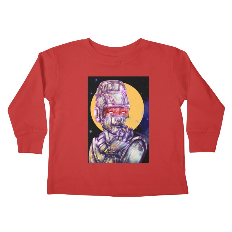 Iron Audrey Kids Toddler Longsleeve T-Shirt by villainmazk's Artist Shop