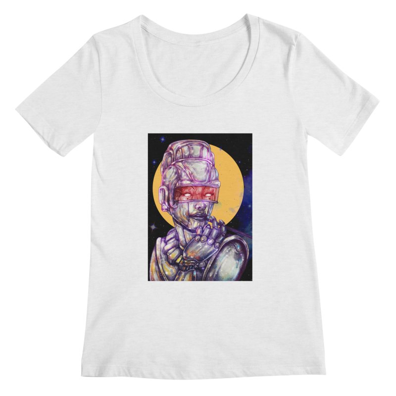 Iron Audrey Women's Scoopneck by villainmazk's Artist Shop