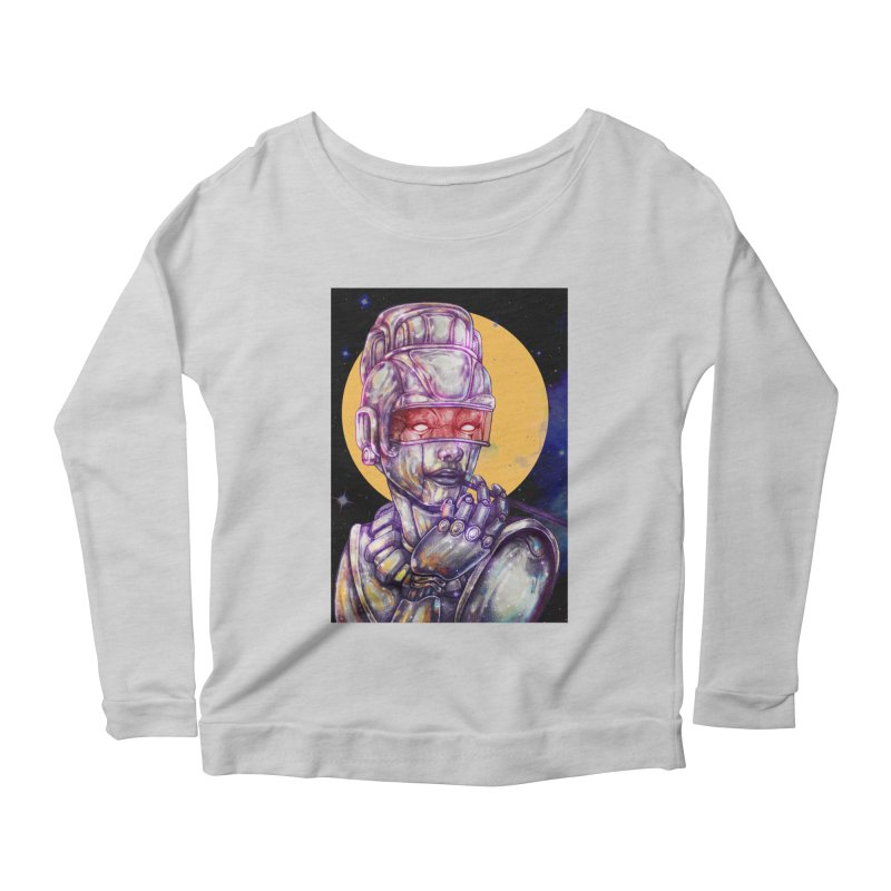 Iron Audrey Women's Scoop Neck Longsleeve T-Shirt by villainmazk's Artist Shop
