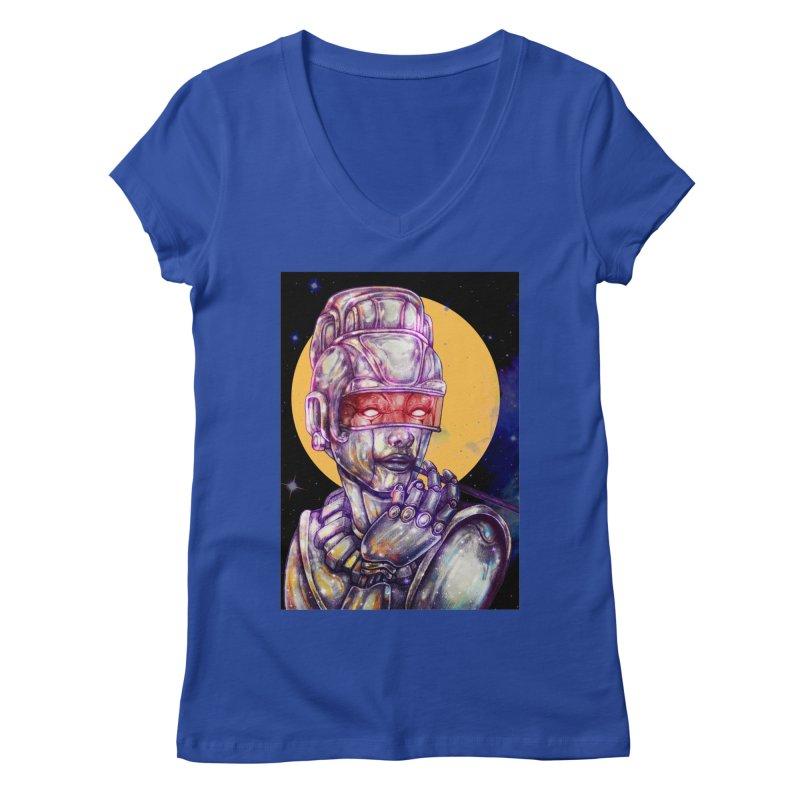 Iron Audrey Women's Regular V-Neck by villainmazk's Artist Shop