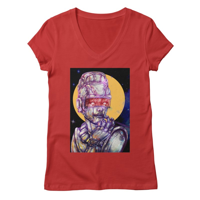 Iron Audrey Women's Regular V-Neck by villainmazk's Artist Shop
