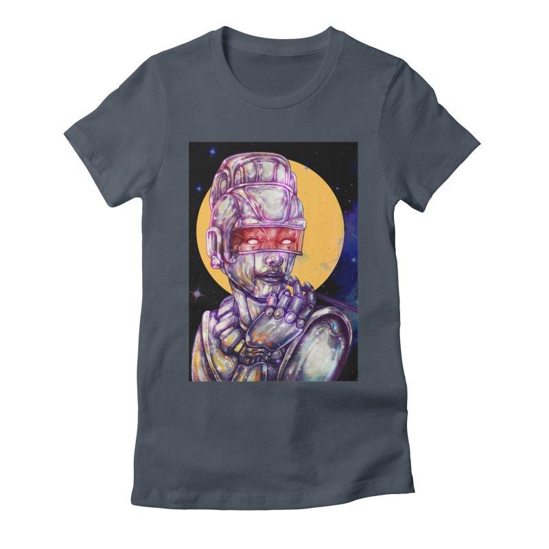 Iron Audrey Women's Fitted T-Shirt by villainmazk's Artist Shop