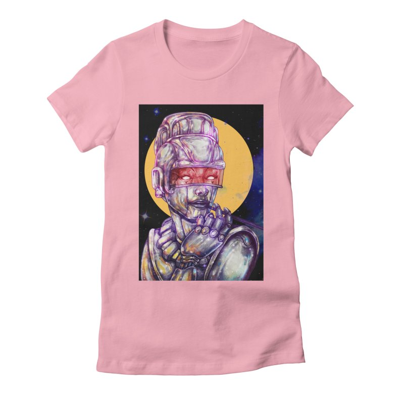 Iron Audrey Women's Fitted T-Shirt by villainmazk's Artist Shop