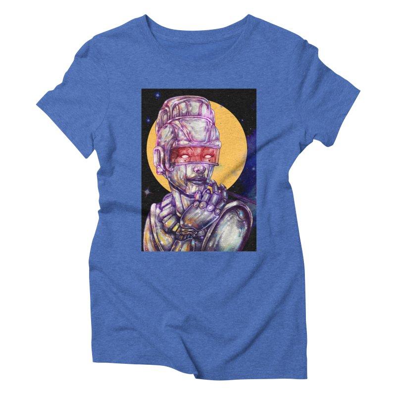 Iron Audrey Women's Triblend T-Shirt by villainmazk's Artist Shop