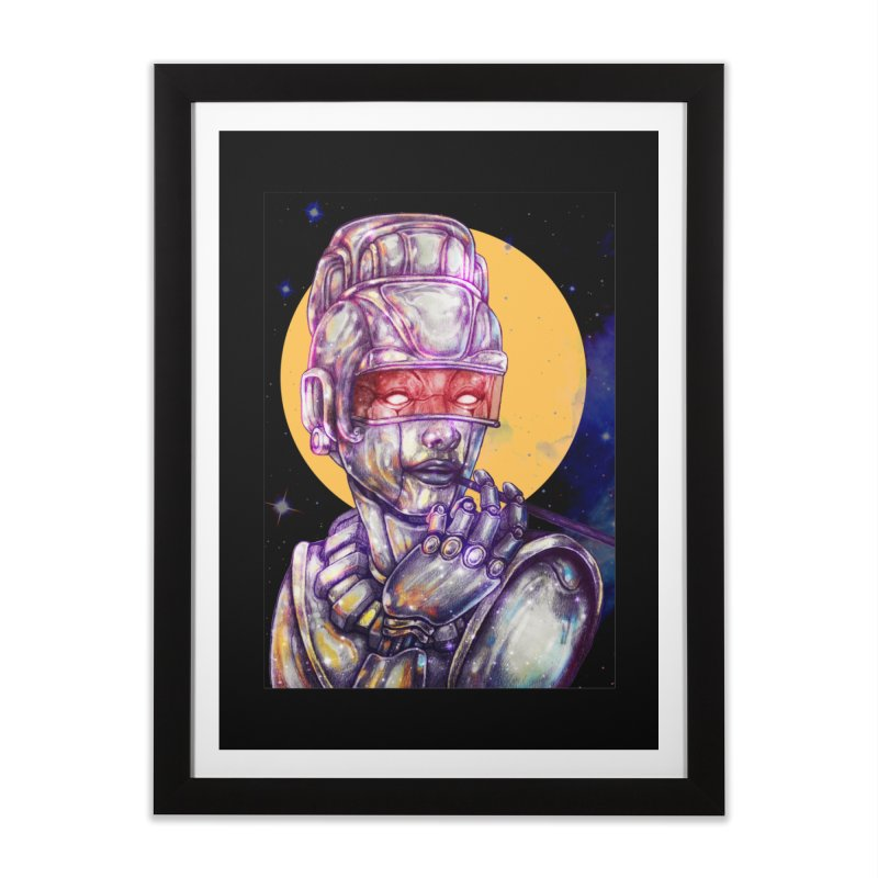 Iron Audrey in Framed Fine Art Print Black by villainmazk's Artist Shop