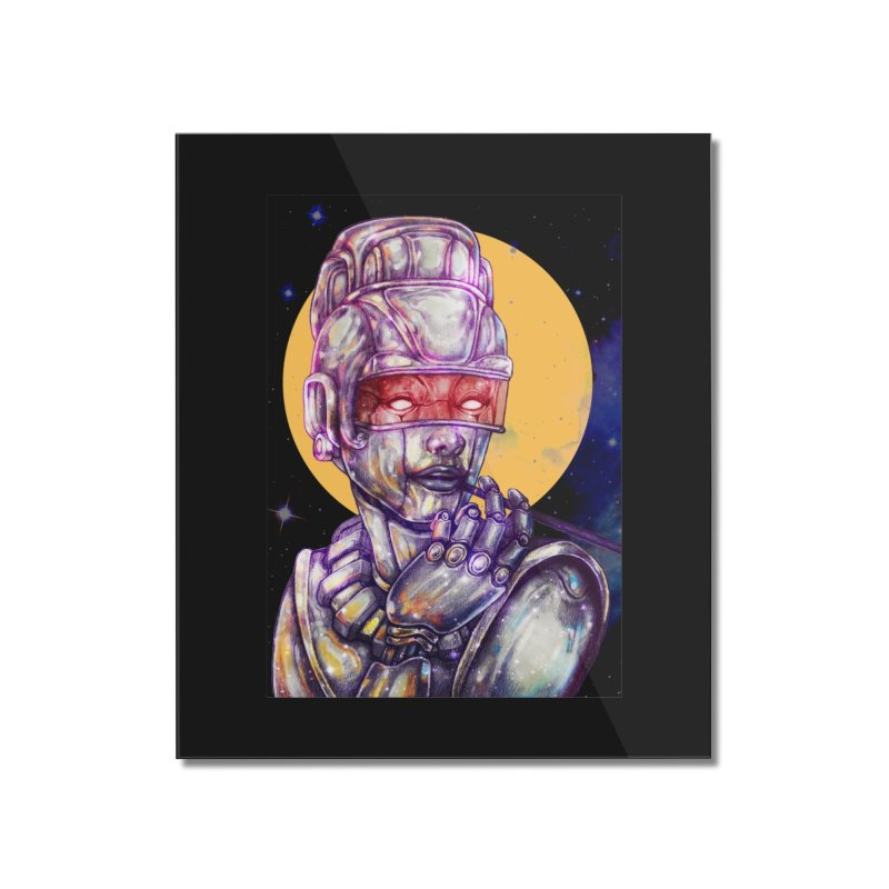 Iron Audrey Home Mounted Acrylic Print by villainmazk's Artist Shop