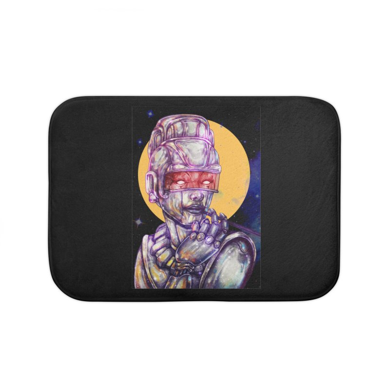 Iron Audrey Home Bath Mat by villainmazk's Artist Shop