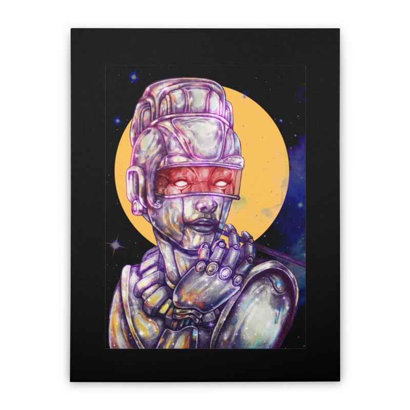Iron Audrey Home Stretched Canvas by villainmazk's Artist Shop