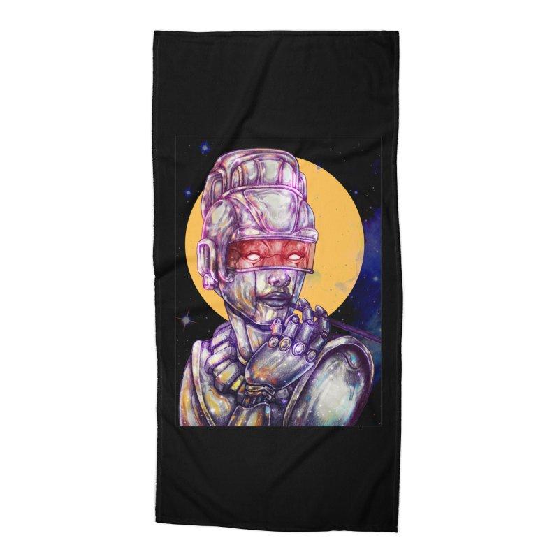 Iron Audrey Accessories Beach Towel by villainmazk's Artist Shop
