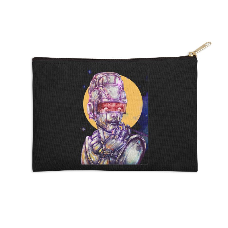Iron Audrey Accessories Zip Pouch by villainmazk's Artist Shop