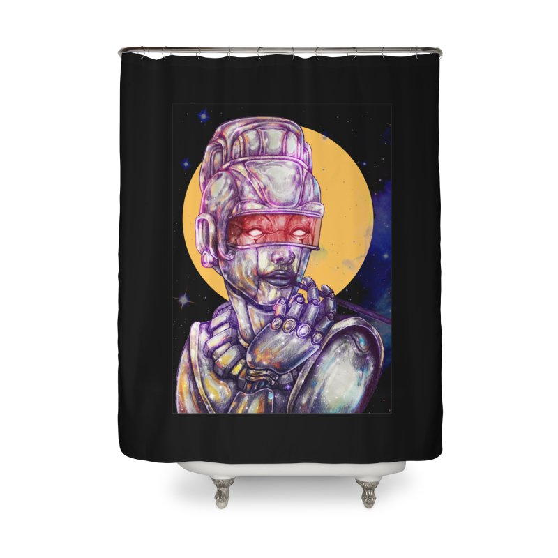 Iron Audrey Home Shower Curtain by villainmazk's Artist Shop