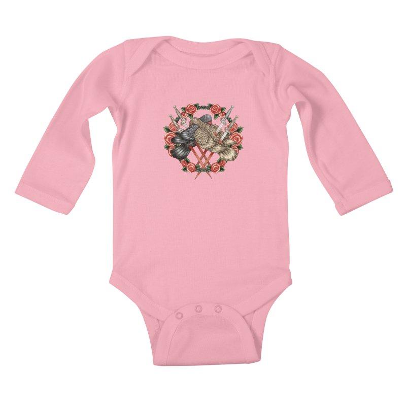 Forgive Me Kids Baby Longsleeve Bodysuit by villainmazk's Artist Shop