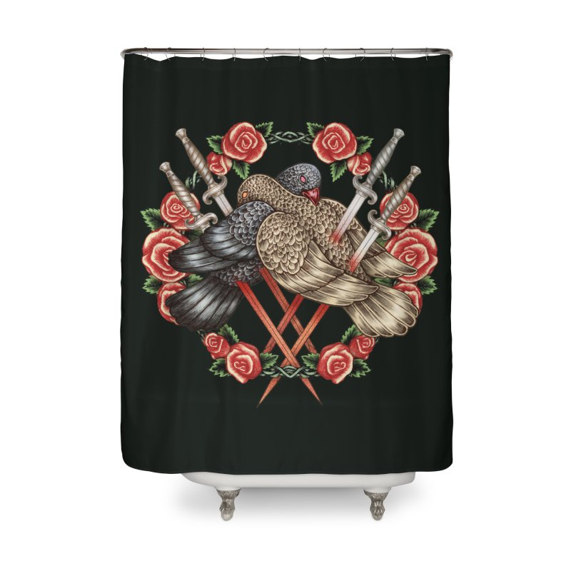 Forgive Me Home Shower Curtain by villainmazk's Artist Shop