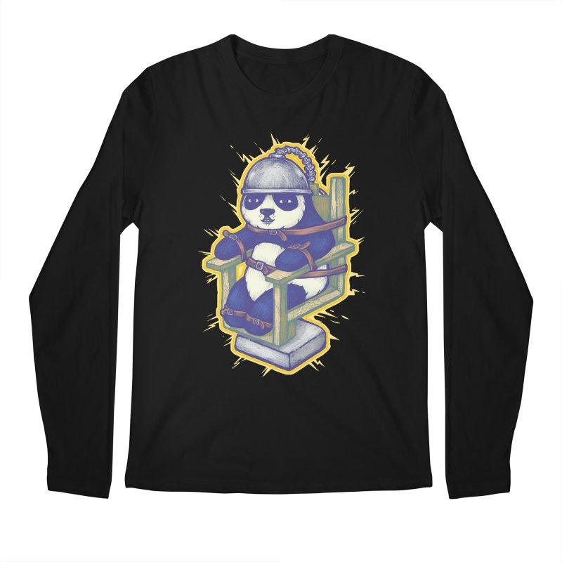 Electric Panda Men's Regular Longsleeve T-Shirt by villainmazk's Artist Shop