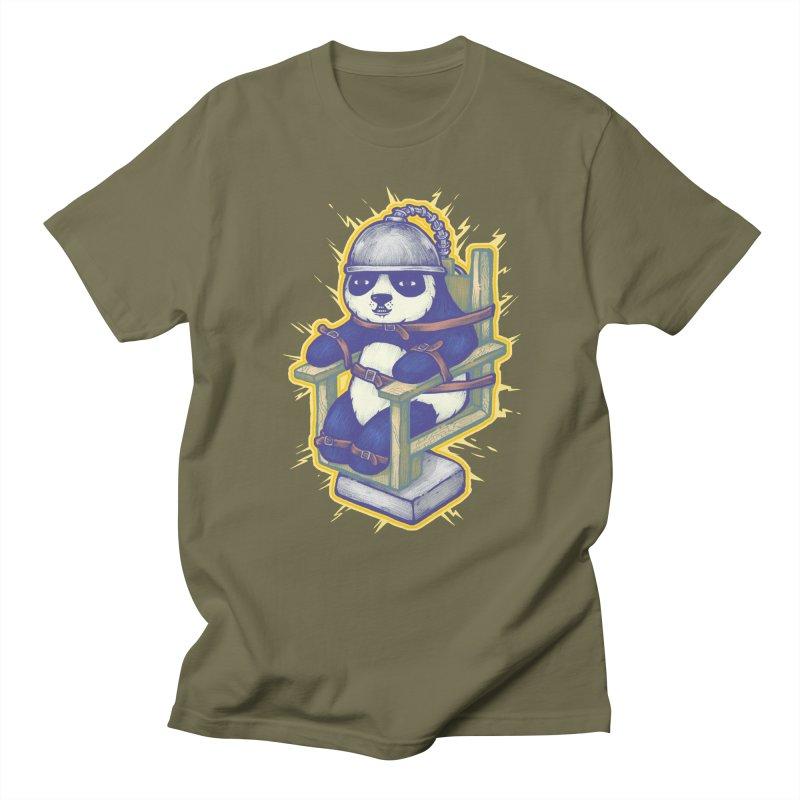 Electric Panda Men's Regular T-Shirt by villainmazk's Artist Shop