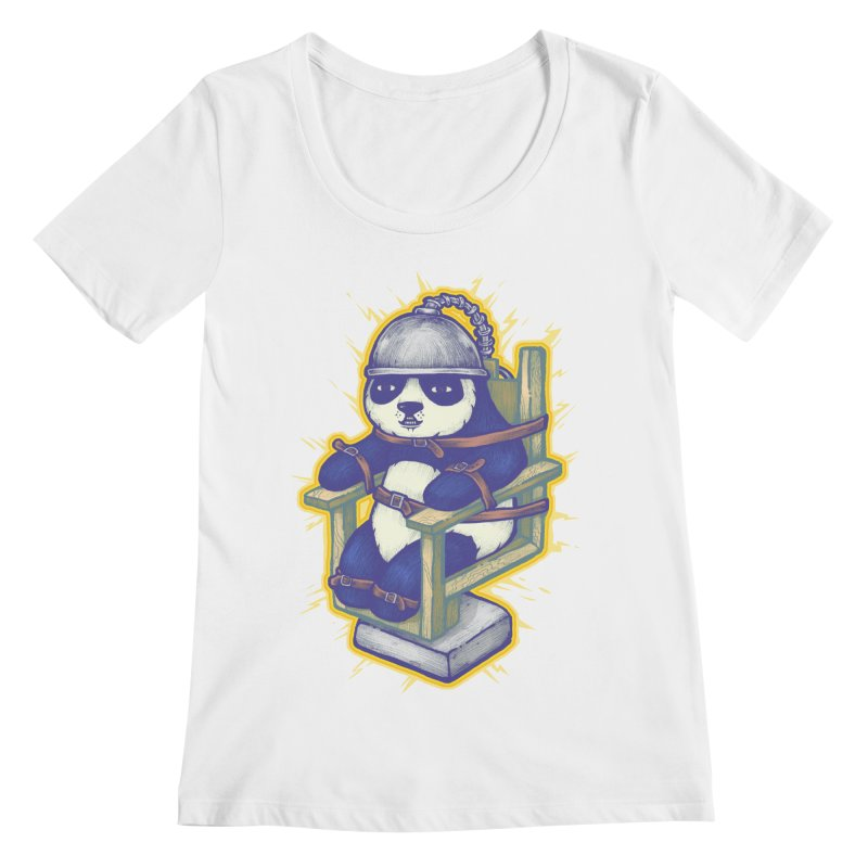 Electric Panda Women's Scoopneck by villainmazk's Artist Shop