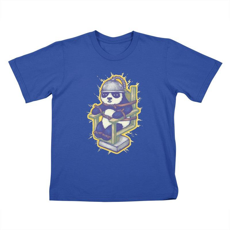 Electric Panda Kids T-Shirt by villainmazk's Artist Shop