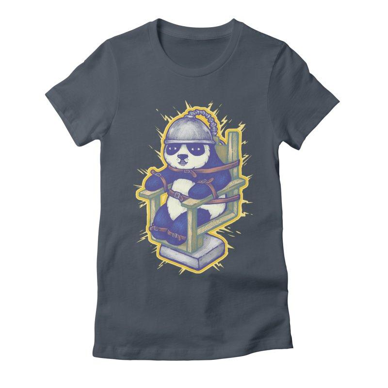 Electric Panda Women's Fitted T-Shirt by villainmazk's Artist Shop