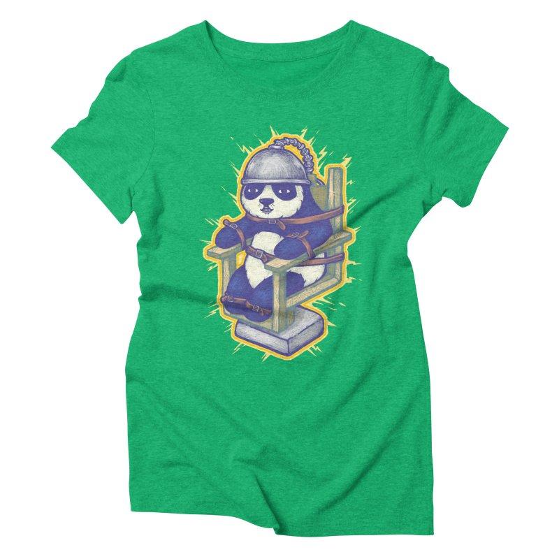Electric Panda Women's Triblend T-Shirt by villainmazk's Artist Shop