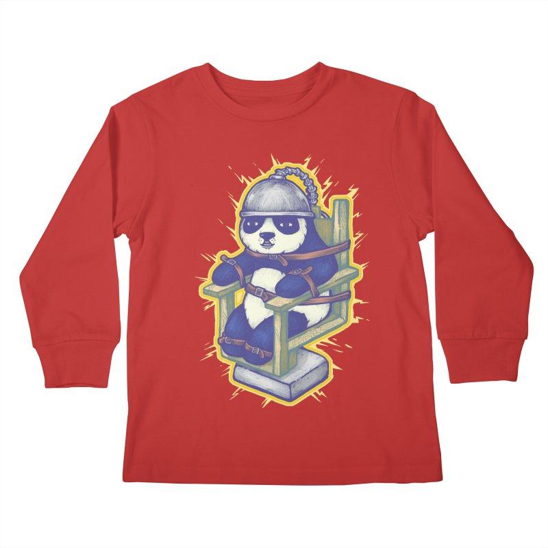 Electric Panda Kids Longsleeve T-Shirt by villainmazk's Artist Shop