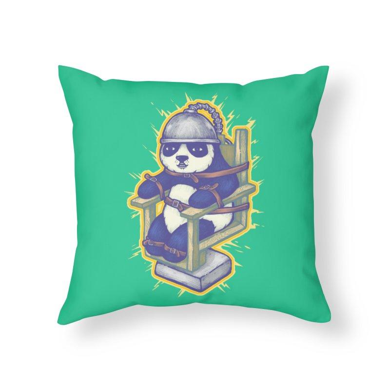 Electric Panda Home Throw Pillow by villainmazk's Artist Shop