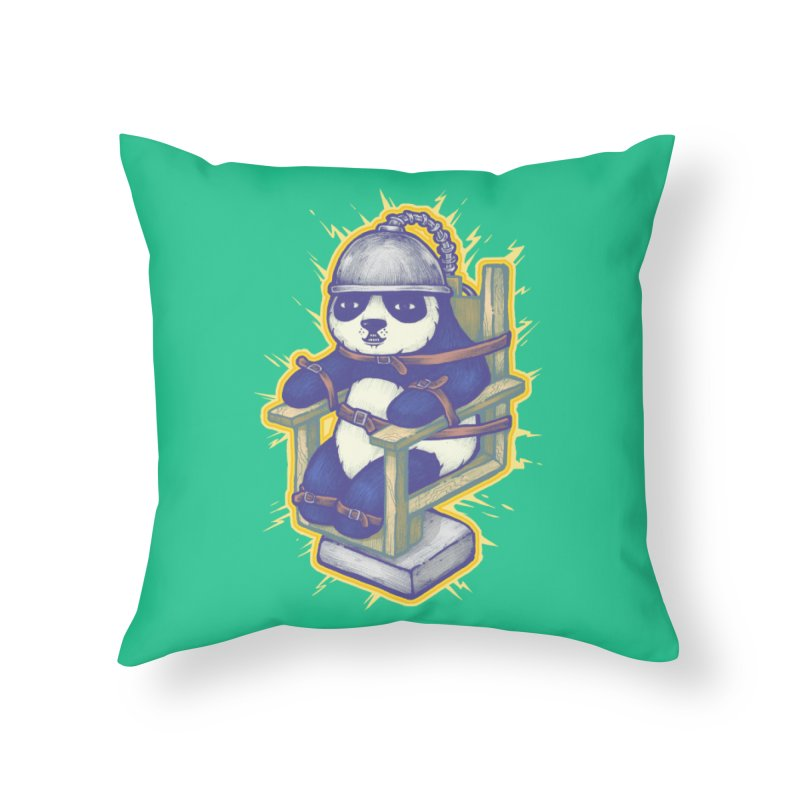 Electric Panda Home Throw Pillow by villainmazk's Artist Shop