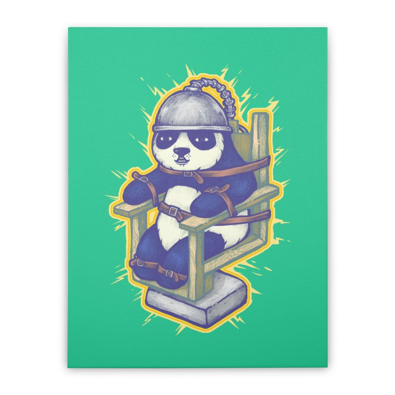 Electric Panda Home Stretched Canvas by villainmazk's Artist Shop