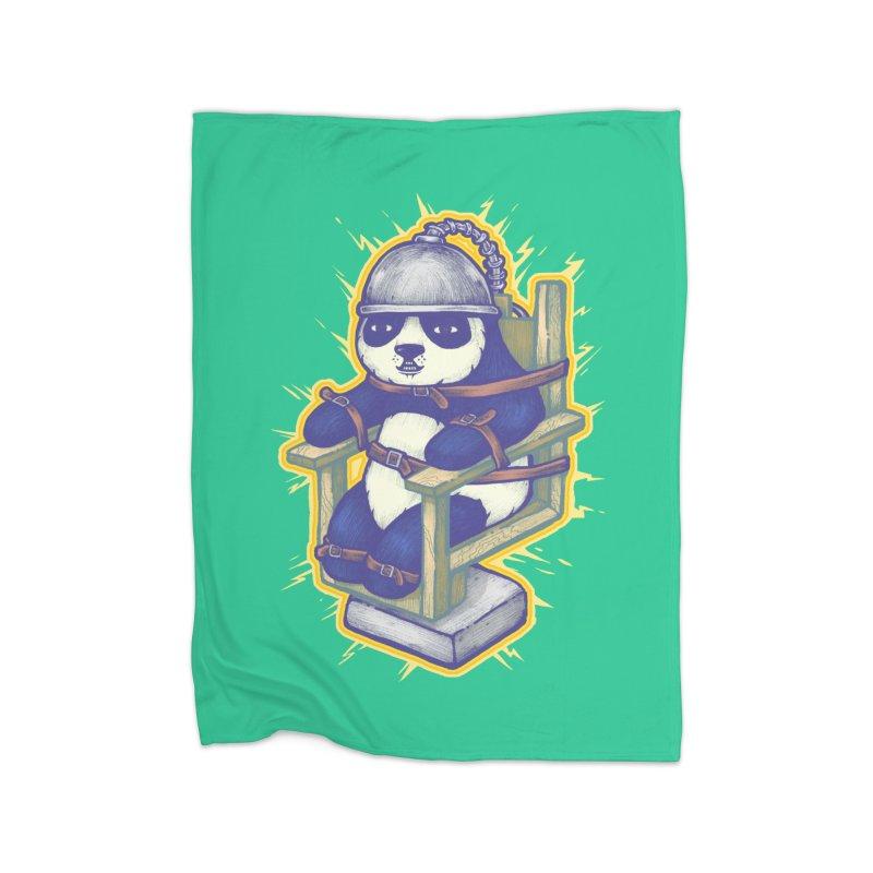 Electric Panda Home Fleece Blanket Blanket by villainmazk's Artist Shop