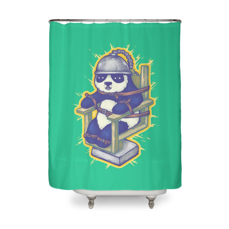 Electric Panda Home Shower Curtain by villainmazk's Artist Shop